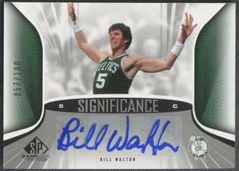 2006/07 SP Game Used #BW Bill Walton SIGnificance Auto #057/100