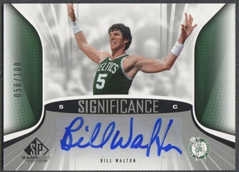 2006/07 SP Game Used #BW Bill Walton SIGnificance Auto #056/100