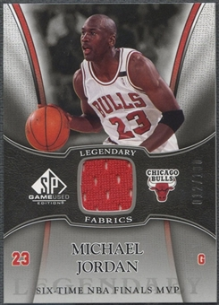 2006/07 SP Game Used #MJ Michael Jordan Legendary Fabrics Jersey #012/100