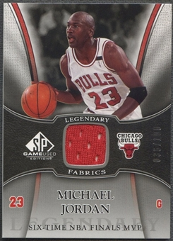 2006/07 SP Game Used #MJ Michael Jordan Legendary Fabrics Jersey #036/100