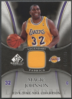 2006/07 SP Game Used #MA Magic Johnson Legendary Fabrics Jersey #014/100