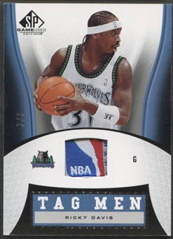 2006/07 SP Game Used #RD Ricky Davis Tag Men #2/3