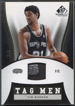 2006/07 SP Game Used #TD Tim Duncan Tag Men #3/3