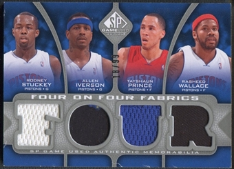 2009/10 SP Game Used #FFDETNEW Paul Peterson Stojakovic Chandler Prince Wallace Iverson Stuckey Jersey #18/99