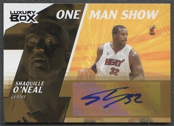 2005/06 Topps Luxury Box #SO Shaquille O'Neal One Man Show Auto #1/1