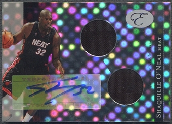2006/07 Bowman Elevation #RSO Shaquille O'Neal Power Brokers Relics Dual Jersey Auto #1/1