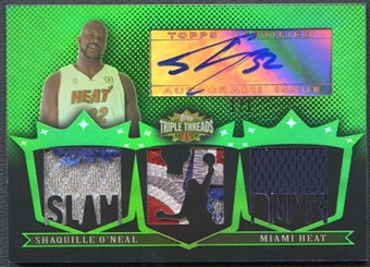 2007/08 Topps Triple Threads #101 Shaquille O'Neal Emerald Patch Auto #1/1