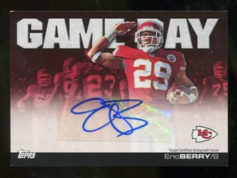 2011 Topps Game Day Autographs #GDAEB Eric Berry Autograph
