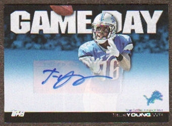 2011 Topps Game Day Autographs #GDATY Titus Young Autograph