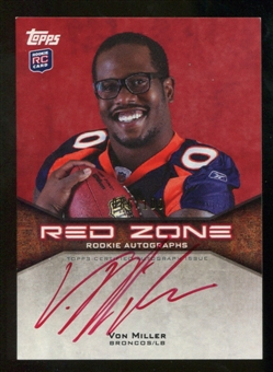 2011 Topps Rookie Red Zone Autographs #RZRAVM Von Miller 86/100