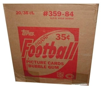 1984 Topps Football Wax 20-Box Case