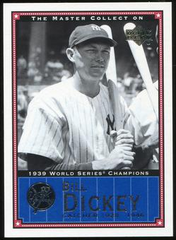 2000 Upper Deck Yankees Master Collection #NYY8 Bill Dickey 1939 184/500