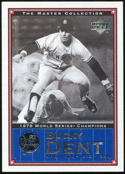 2000 Upper Deck Yankees Master Collection #NYY22 Bucky Dent 1978 184/500