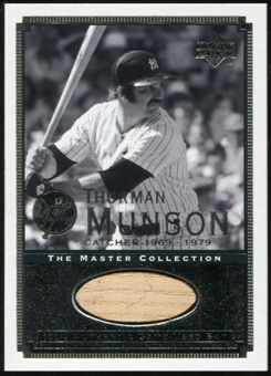 2000 Upper Deck Yankees Master Collection All-Time Yankees Game Bats #ATY9 Thurman Munson 184/500