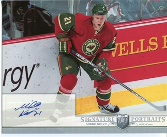 2006/07 Upper Deck Be A Player Portraits Signature Portraits #SPKO Mikko Koivu Autograph