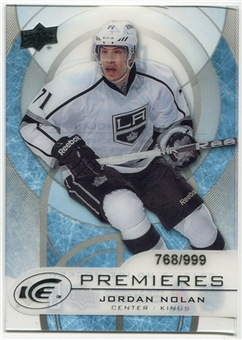2012/13 Upper Deck Ice #34 Jordan Nolan RC /999
