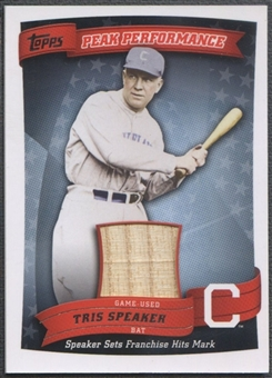 2010 Topps #TS Tris Speaker Peak Performance Relics Bat