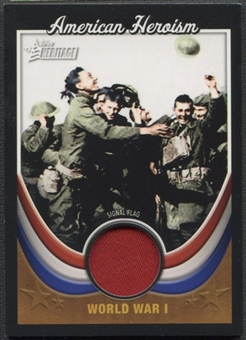 2009 Topps American Heritage #WWI3 World War I Signal Flag Heroes American Heroism Flag