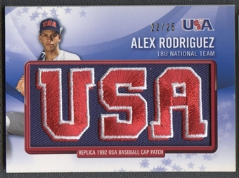 2011 Bowman #RPR25 Alex Rodriguez USA Baseball Retro Patch #22/25