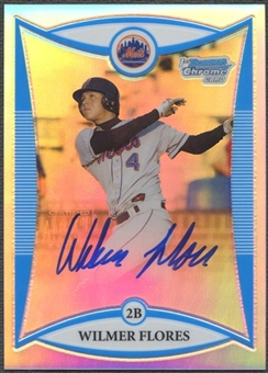 2008 Bowman Chrome Draft Prospects #BDPP111 Wilmer Flores Refractor Auto #031/500