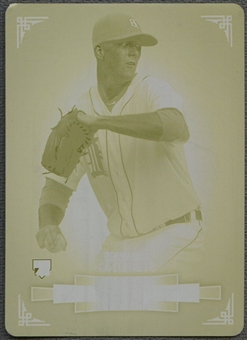 2012 Bowman Sterling #31 Drew Smyly Printing Plate Yellow #1/1