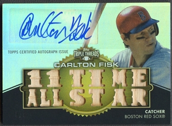 2012 Topps Triple Threads #TTAR254 Carlton Fisk Bat Auto #8/9