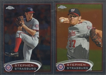 2012 Topps Chrome #70 Stephen Strasburg Photo Variation