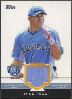 2012 Topps Update #MIT Mike Trout All-Star Stitches Jersey