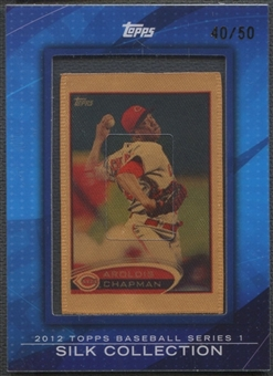 2012 Topps #SC63 Aroldis Chapman Silk Collection #40/50