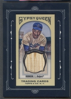 2011 Topps Gypsy Queen #JR Jackie Robinson Framed Mini Relics Bat