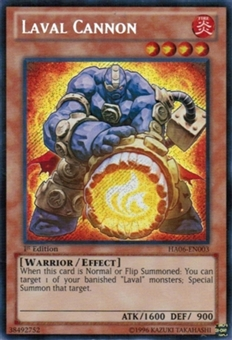 Yu-Gi-Oh Hidden Arsenal 6 Single Laval Cannon Secret Rare