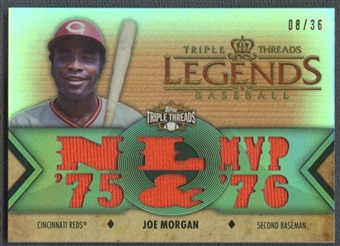 2012 Topps Triple Threads #TTRL1 Joe Morgan Legend Jersey #08/36