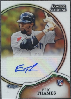 2011 Bowman Sterling #23 Eric Thames Rookie Refractor Auto #114/199