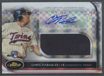 2012 Finest #CP Chris Parmelee Rookie Jumbo Relic X-Fractors Jersey Auto #115/299