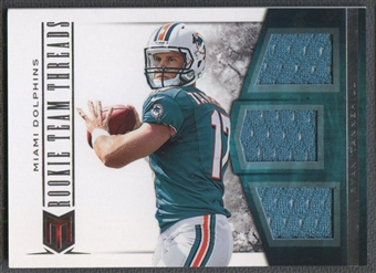 2012 Momentum #5 Ryan Tannehill Rookie Team Threads Triple Materials Jersey #06/99