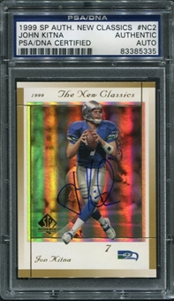 1999 Upper Deck SP Authentic New Classics #NC2 John Kitna Autograph PSA/DNA Slabbed