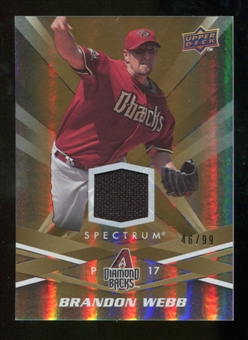 2009 Upper Deck Spectrum Gold Jersey #1 Brandon Webb /99
