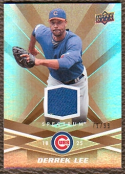 2009  Upper Deck Spectrum Gold Jersey #18 Derrek Lee Jersey /99