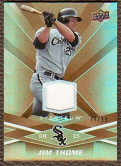 2009  Upper Deck Spectrum Gold Jersey #24 Jim Thome Jersey /99