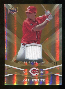 2009 Upper Deck Spectrum Gold Jersey #26 Jay Bruce /99