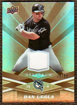 2009 Upper Deck Spectrum Gold Jersey #39 Dan Uggla /99