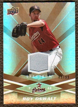 2009 Upper Deck Spectrum Gold Jersey #42 Roy Oswalt /99