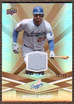 2009 Upper Deck Spectrum Gold Jersey #52 Matt Kemp /99