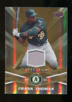 2009 Upper Deck Spectrum Gold Jersey #71 Frank Thomas /99