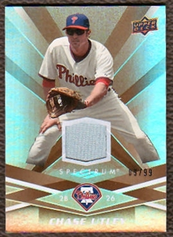 2009 Upper Deck Spectrum Gold Jersey #73 Chase Utley /99