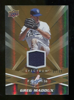 2009 Upper Deck Spectrum Gold Jersey #79 Greg Maddux /99