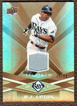 2009 Upper Deck Spectrum Gold Jersey #90 B.J. Upton /99