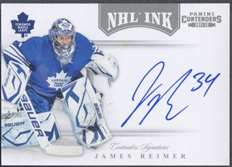 2011/12 Panini Contenders #61 James Reimer NHL Ink Auto