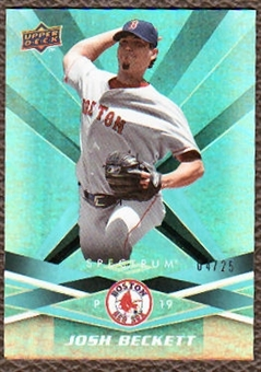2009 Upper Deck Spectrum Turquoise #11 Josh Beckett /25