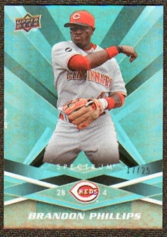 2009 Upper Deck Spectrum Turquoise #28 Brandon Phillips /25